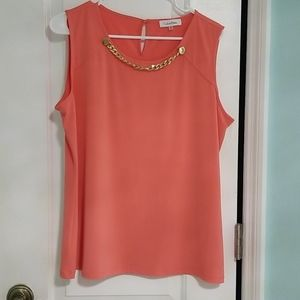 Peach Calvin Klein top xl